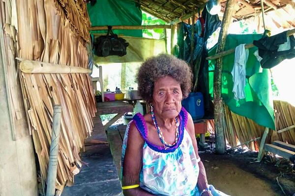 Luciana says many families in her village received assistance for housing, including other small projects, but she has been left out.