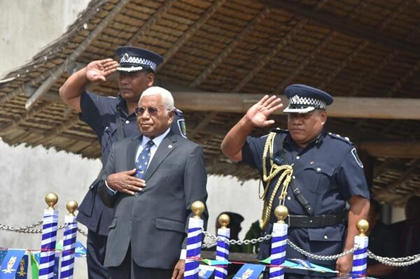 Governor General, Sir David Vunagi, at the opening of the sitting of Parliament.