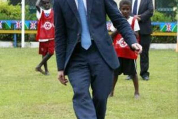 The Duke of Cambridge's first kick tucked the ball into the bottom right corner, sending the crowd at the Commonwealth Youth Conference in Honiara into spasms of delight.