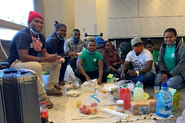 The youths are in the States on a program with International Leadership Training Program (ILTP).
